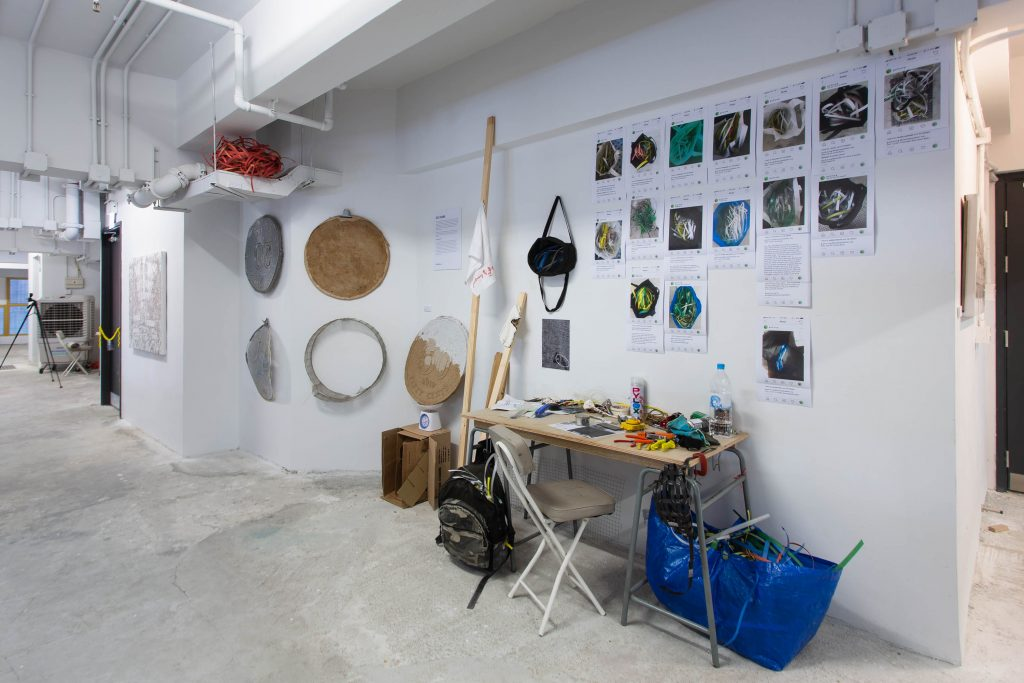 Go Hung artist-in-residency with HKwalls at The Nate in August 2019