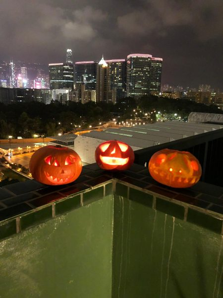 Halloween pumpkin crafting night at The Nate rooftop