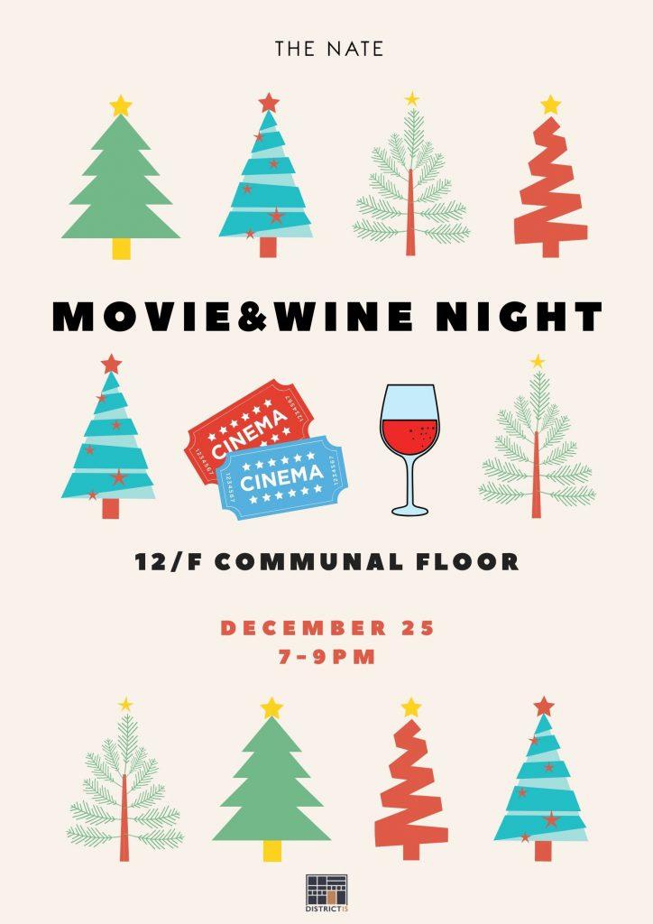 Christmas Movie & Wine Poster