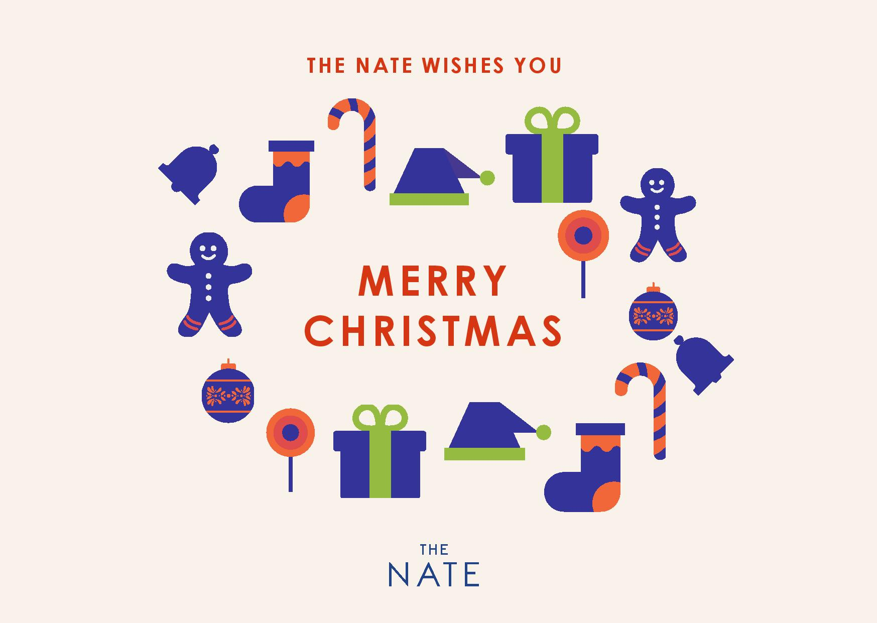 The Nate wishes you a merry christmas