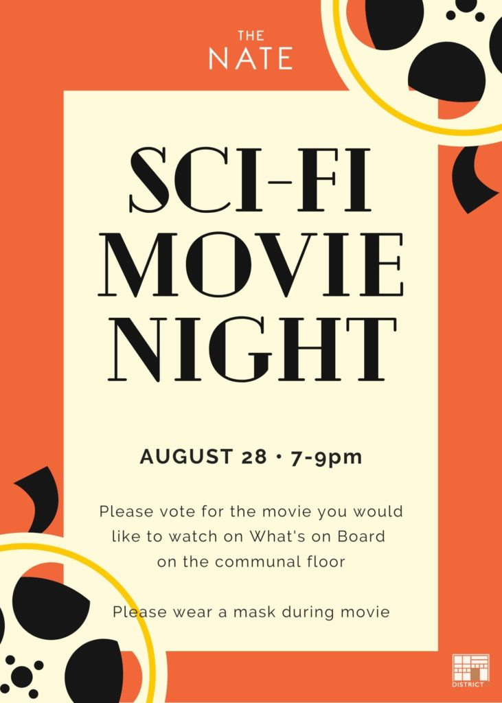 Sci-Fi movie night at The Nate
