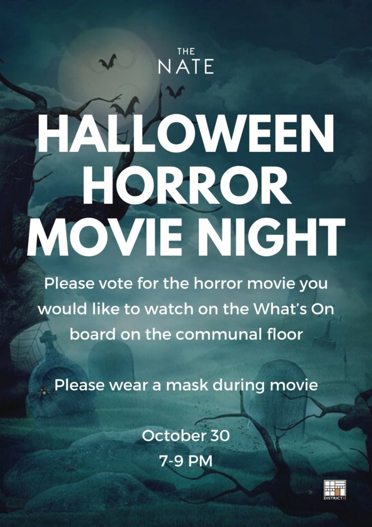 Halloween Horror Movie Night at The Nate